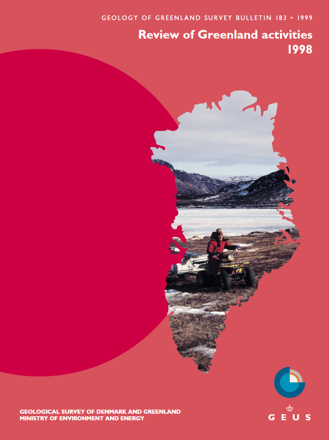 Geology of Greenland Survey Bulletin 183 cover